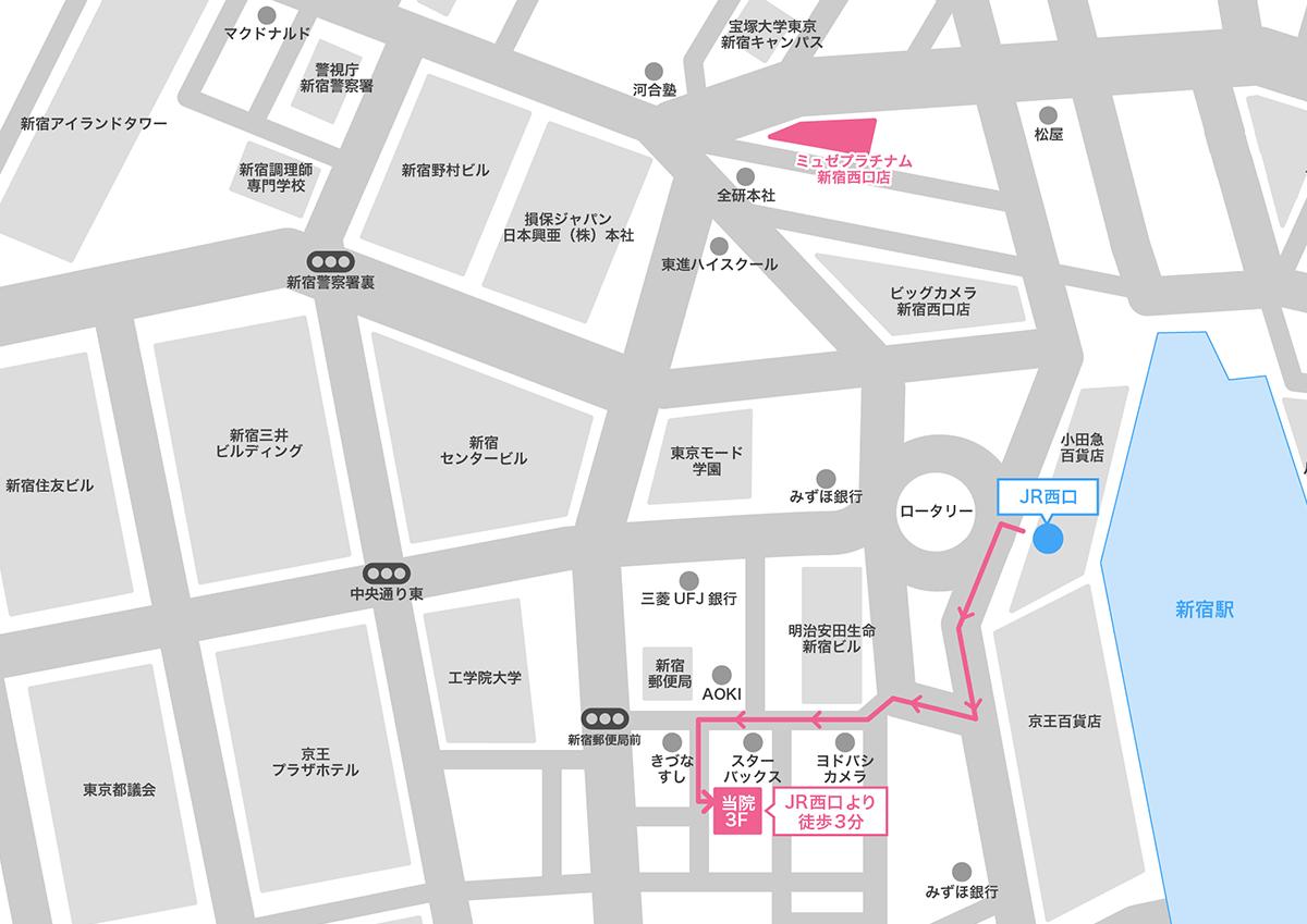 新宿駅周辺(西口)