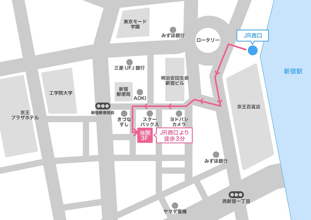 新宿駅周辺(駅付近)